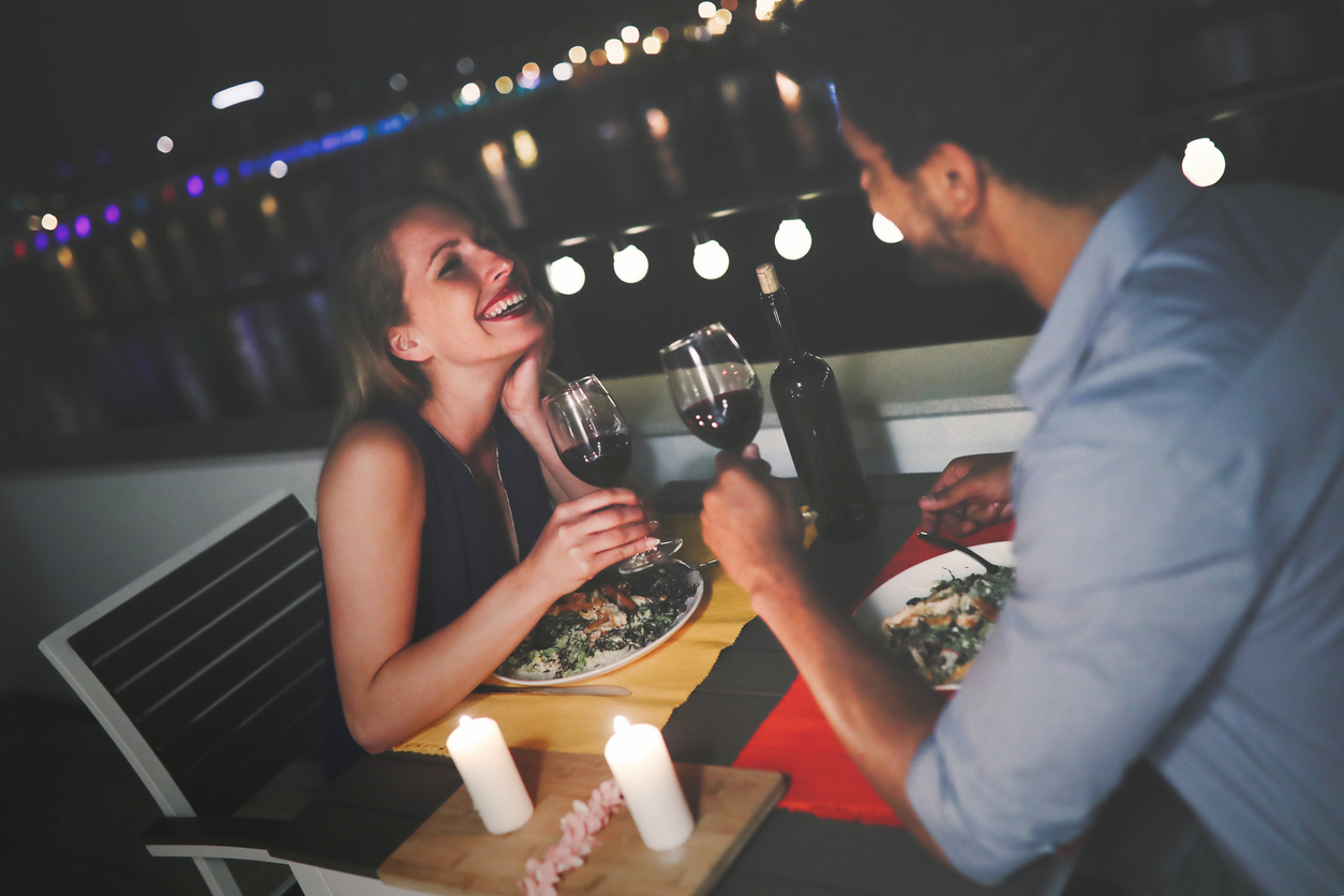 Young couple enjoying late-night dining around Carbondale